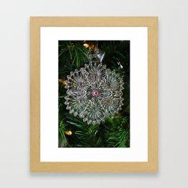 Snowcrystal Ornament 2016- vertical Framed Art Print