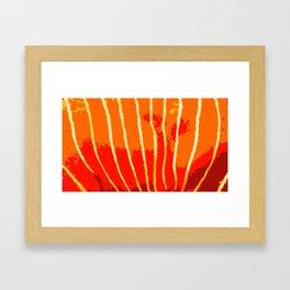 Orange Bongo Stripes Framed Art Print