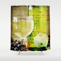 wine Shower Curtains featuring Wine by ThePhotoGuyDarren