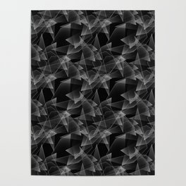 Abstract pattern.the effect of broken glass.Black background. Poster