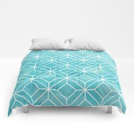 Geometric Crystals: Sea Glass Comforters