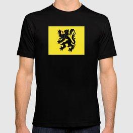 Flag of Flanders - Belgium,Belgian,vlaanderen,Vlaam,Oostende,Antwerpen,Gent,Beveren,Brussels,flamish T-shirt