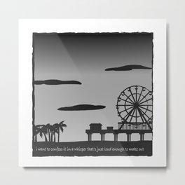 Santa Monica Confession Metal Print