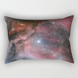 The Carina Nebula, Wolf–Rayet star WR 22 Rectangular Pillow