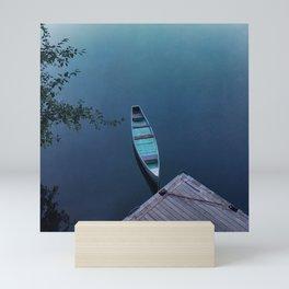 Blue Canoe Mini Art Print