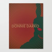 donnie darko Canvas Prints featuring Donnie Darko by C&F Prints