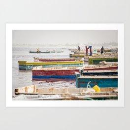 Salt lake, Senegal. Art Print