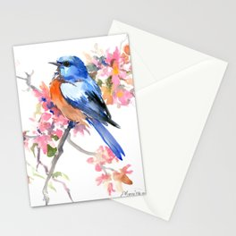 Bluebird and Cherry Blossom Stationery Cards
