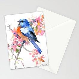 Bluebird and Cherry Blossom Stationery Cards