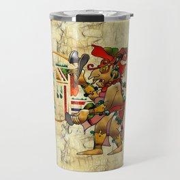 Tribal God War Dance Folk Art Travel Mug