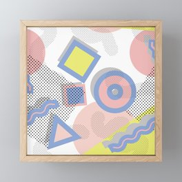 Memphis Geometric Pattern Framed Mini Art Print