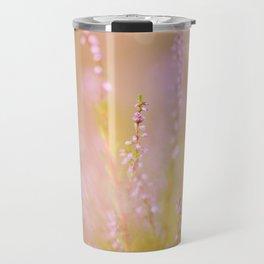 Subtle pink heather macro Travel Mug