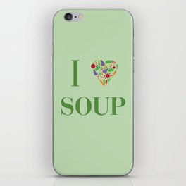 I heart Soup iPhone Skin