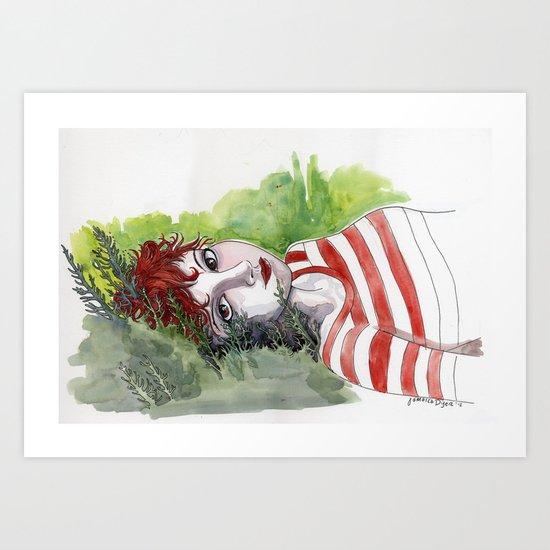 Fox Head Stew - Dee Art Print