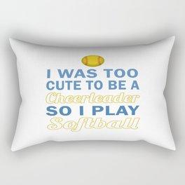 Cute Cheerleader Softball Rectangular Pillow