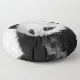 Panda Bear - Black & White Floor Pillow