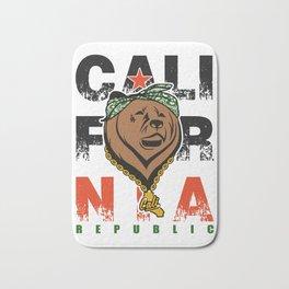 Cali Gangster Bear - California Republic LA Grizzly Bath Mat