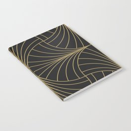 Diamond Series Inter Wave Gold on Charcoal Notebook