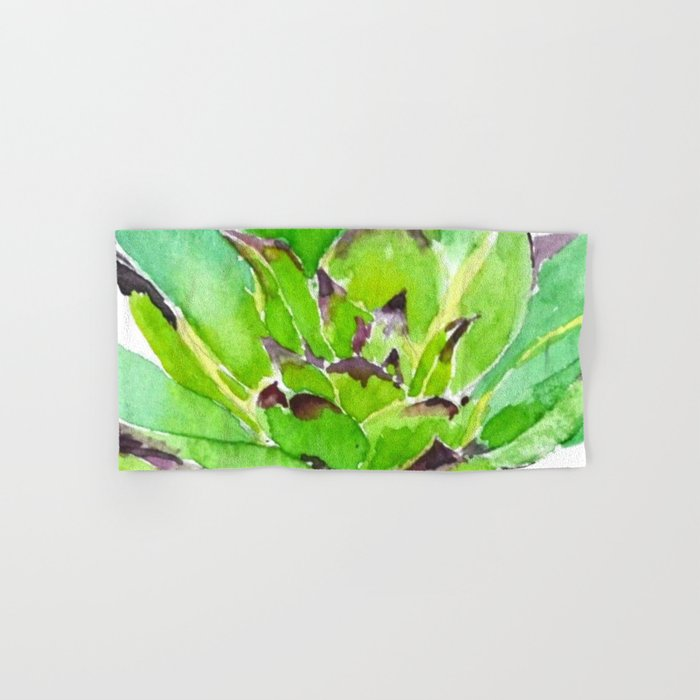 green succulent 3 Hand & Bath Towel