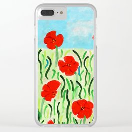 Everything's Popping Up Poppies! Clear iPhone Case