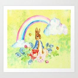 Hoppy The Bunny 2 Art Print