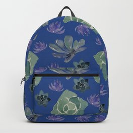 Blue succulents Backpack