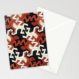 Escher lizard Stationery Cards