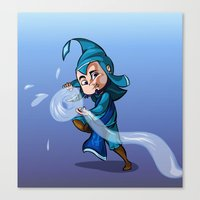 bender Canvas Prints featuring Water Bender by MDDesigns