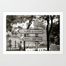 Place de Clichy, Porte de Saint Ouen Art Print