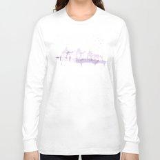 Watercolor landscape illustration_Sahara Long Sleeve T-shirt