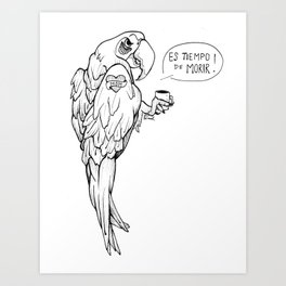 It is the Time of death Art Print