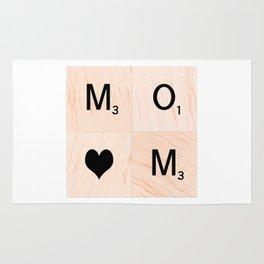 Gift for MOM Scrabble Tile Art - Mother's Day Rug