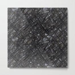 Scarred Iron Wall Metal Print