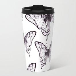 simple butterfly pattern Travel Mug
