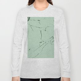 mint green modern marble Long Sleeve T-shirt