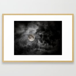 Black Night Framed Art Print