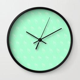 F ((seafoam green)) Wall Clock