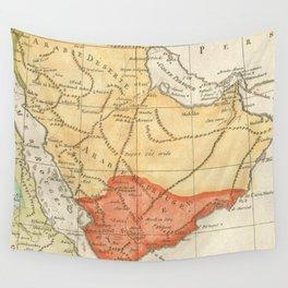 Vintage Map of Saudi Arabia (1780) Wall Tapestry