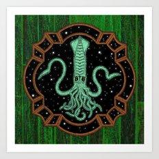 Squids in Space! Art Print