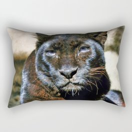 The Black Leopard Rectangular Pillow