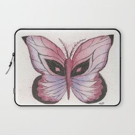 Ink and Watercolor Butterfly in rose colored tones Laptop Sleeve