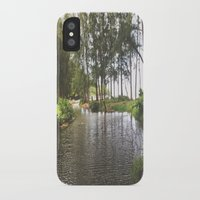 outdoor iPhone & iPod Cases featuring Outdoor River Campsite by Tianna Chantal