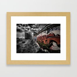 Old Power Station Building with Graffiti Framed Art Print