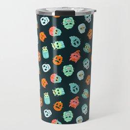 Halloween Mask Pattern Travel Mug