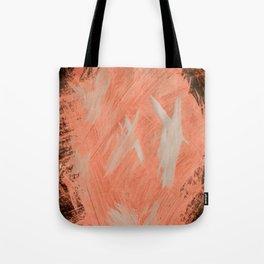 Kaws cross, Abstract, Orange Flamengo Tote Bag