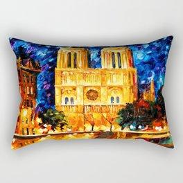 Starry Art Clock Night Rectangular Pillow