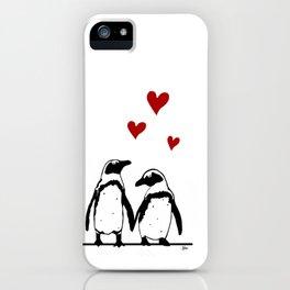 Love Penguins iPhone Case