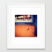 puerto rico Framed Art Prints featuring Lizard in Puerto Rico by ANoelleJay