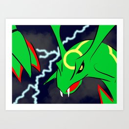 Rayquaza In The Skies Art Print
