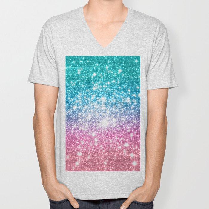Mermaid Galaxy Sparkle Stars Unisex V-Neck